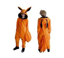 Kyuubi Naruto Kurama Kigurumi Raposa Pijama Macacão Fantasia Adulto Infantil Cosplay Anime Desenho - Kigurama