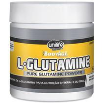 L-Glutamina 100% pura em pó 300g Unilife -