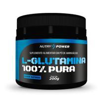 L-glutamina 100% Pura Natural 200g Apisnutri -