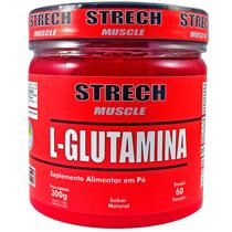 L-Glutamina Pó 300g 60 porções 100% Pura Acomp. Laudo Físico - Strech Muscle