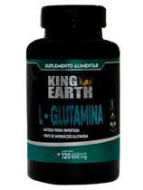 L-Glutamina Pura High Performance 500 mg 120 Cáps King Earth - Pré Treino -