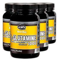L Glutamine 1000mg 4 X 120 Cápsulas - Unilife -