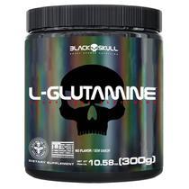L-Glutamine - 300g Sem Sabor - BlackSkull - Black Skull