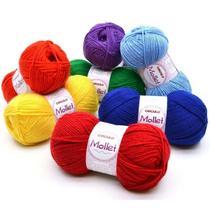 Lã Mollet Círculo 40g - Pacote Com 5 Novelos -