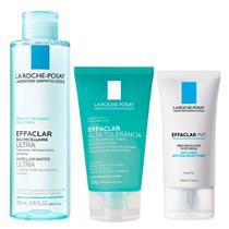 La Roche-Posay Effaclar Kit - Hidratante Facial + Gel de Limpeza + Solução Micelar -