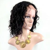 LACE WIG Anka de Cabelo Humano Cacheado 1B - Bella Hair