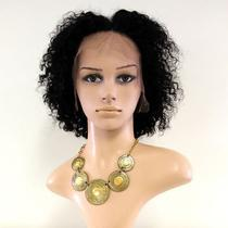 LACE WIG Briana de Cabelo Humano Cacheado 1B - Bella Hair