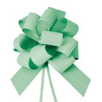 Laço Gravata Embalagem Presente Fita 30Mm Glit. Verde - Cromus