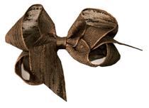 Laço para Cabelo em Linho Marrom GG - Gumii -