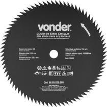 Lâmina Circular para Roçadeira sem Videa 255x20,0x80  - Vonder -