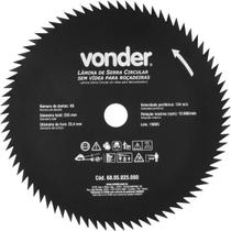 Lâmina Circular para Roçadeira sem Videa 255x25,4x80  Vonder -