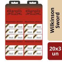 Lâmina de Barbear Inox Wilkinson Cartela 20x3 un - Gillette