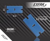 Lâmina de plástico azul exfak -