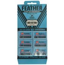 Lamina para barbear japonesa feather referencia no mercado -