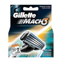 Laminas de Barbear Mach3 2 UN Gillette -
