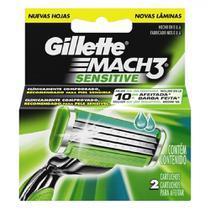 Laminas de Barbear Mach3 Sensitive 2 UN Gillette -