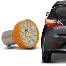 Lâmpada 12 LEDs 1 Polo Trava Diagonal 21W 12V Luz Pisca e Seta Laranja Autopoli -