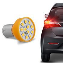 Lâmpada 12 LEDs 1 Polo Trava Reta 21W 12V Luz Pisca e Seta Laranja Modelo Original Autopoli -