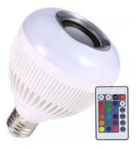 Lampada Bluetooth Caixa De Som Led Colorido - King