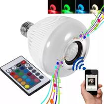 Lampada Bluetooth Led Rgb Branco Caixa Som Musical - Duda Store