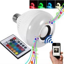 Lâmpada Bluetooth Musical Caixa De Som Led Rgb Com Controle - Dex