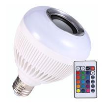 Lâmpada Bluetooth Rgb Colorida 12w Música Com Controle Remoto - Music Bulb