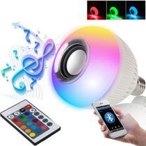 Lâmpada Bluetooth RGB Luz Led Caixa de Som Controle Remoto - Zd