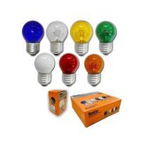 Lampada Bolinha Colorida G45 15w E27 127v - Rio chens -