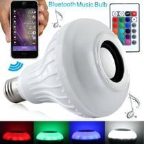Lampada Bulbo Music Bluetooth Colorido RGB Controle - Morgadosp