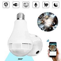 Lâmpada Câmera de segurança 360 graus V380 -