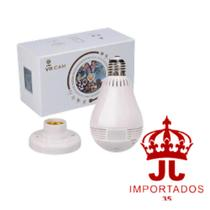 Lâmpada Câmera Espiã 360 Panorâmica Wifi Ip Led Bivolt Microfone e Alto Falante Embutido Branca - Zhang