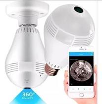 Lampada Câmera Espiã Ip Wifi 360 Microfone Led Hd Panorâmica - 123 Útil