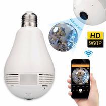 Lâmpada Câmera IP Bulbo E27 Segurança Com WIFI - Monitoramento pelo Smartphone - Lojascast