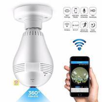 Lâmpada Câmera IP Segurança Led 360 VR-V9-A VR Cam Panorâmica Espiã Wifi V380 -