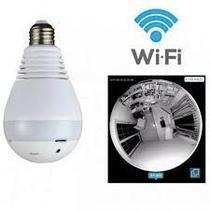 Lâmpada Câmera Led Wifi Ip Hd Panorâmica 360º Espiã - Artex