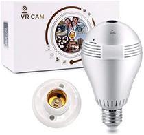 Lâmpada com Câmera ip wifi HD espiã monitoramento segurança 360 graus panorâmica V380 - Vr Cam