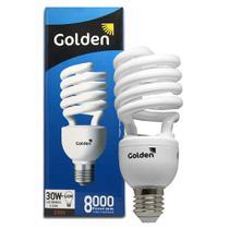 Lâmpada Compacta Fluorescente Espiral 30w 220v 6500k Golden -