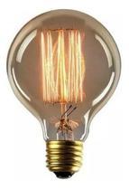 Lâmpada de Filamento de Carbono Retro Vintage G80 220v - Plug Lar