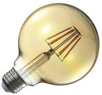 Lampada Decorativa Retrô Vintage LED G95 1 Unidade - Blue