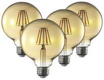 Lampada Decorativa Retrô Vintage LED G95 4 Unidades - Blue