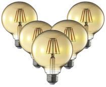 Lampada Decorativa Retrô Vintage LED G95 5 Unidades - Blue