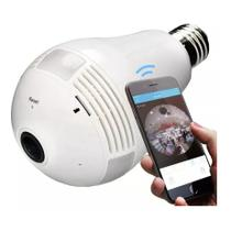 Lâmpada Espiã Câmera Ip Led Wifi Hd 360º - Vr