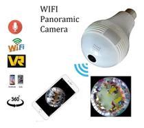 Lâmpada Espiã Câmera Ip Led Wifi Hd Panorâmica - Vrcam