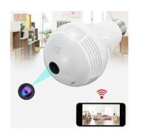 Lâmpada Espiã Câmera IP V380 Segurança 360 Panorâmica Wifi - Vr Cam