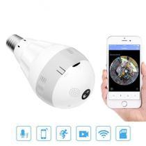 Lampada Espiã câmera panorâmica 360 - Inova