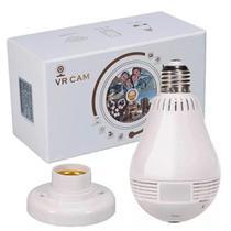 Lâmpada Espiã Câmera Visão Noturna Ip Led Wifi Hd Panorâmica - Mare Shop