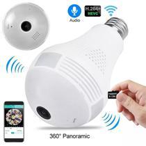 Lampada Espiã Ip 360 Hd Led Wifi 3g Grava Alarm - M2L