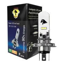 Lampada Farol Led H4 Moto / Carro 8000k Super Branca - Stallion