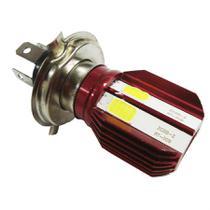 Lampada Farol Led H4 Para Moto Efeito Xenon Maior Alcance Vermelho Escuro - Serjão Parts