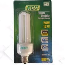 Lampada Fluorescente compacta Rcg Luz Amarela Nova 127v 26w -